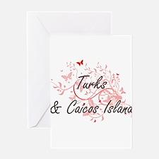 Turks & Caicos Island Artistic Desi Greeting Cards