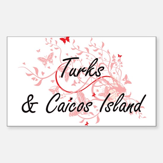 Turks & Caicos Island Artistic Design with Decal