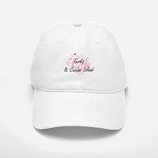 Turks & Caicos Island Artistic Design with But Baseball Baseball Cap