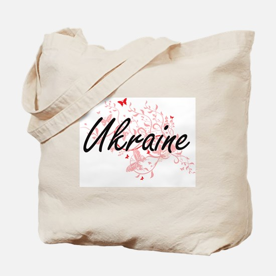 Ukraine Artistic Design with Butterflies Tote Bag
