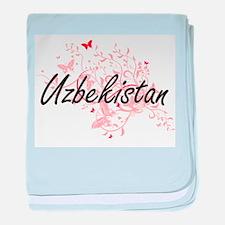 Uzbekistan Artistic Design with Butte baby blanket