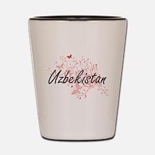 Uzbekistan Artistic Design with Butterf Shot Glass