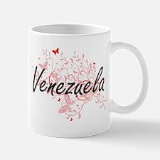 Venezuela Artistic Design with Butterflies Mugs
