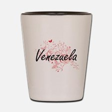 Venezuela Artistic Design with Butterfl Shot Glass