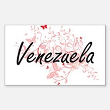 Venezuela Artistic Design with Butterflies Decal