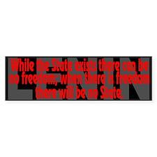 Lenin Quote: the State - Bumper Bumper Sticker