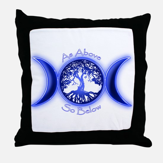 Unique Tree of life Throw Pillow