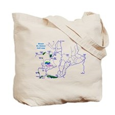 Mount St. Helens trail map  Tote Bag