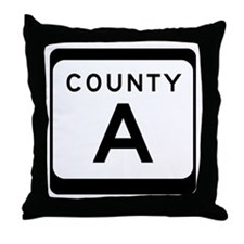 County A Throw Pillow