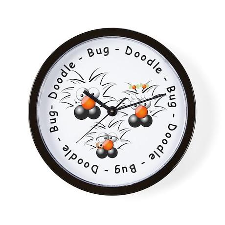 Doodle Bug Wall Clock