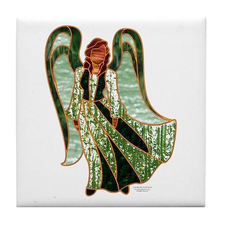 Green Angel Tile Coaster