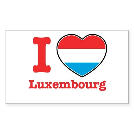 I love Luxembourg Rectangle Sticker