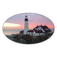Portland Headlight Sunrise Oval Decal