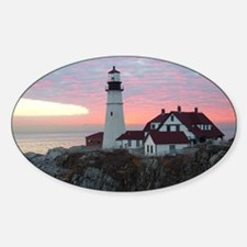 Portland Headlight Sunrise Oval Decal