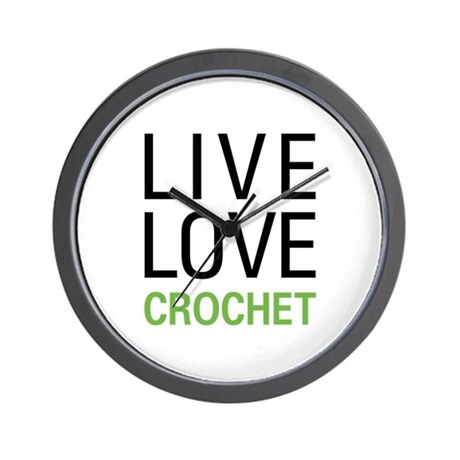 Live Love Crochet Wall Clock
