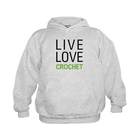 Live Love Crochet Kids Hoodie