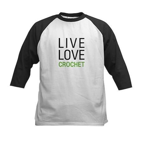 Live Love Crochet Kids Baseball Jersey