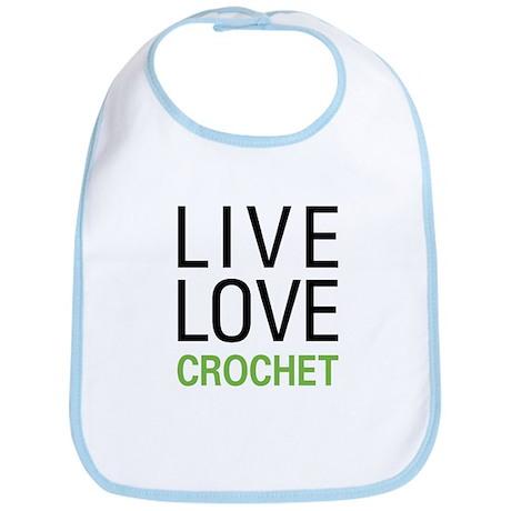 Live Love Crochet Bib