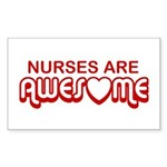 Nurses are Awesome Rectangle Sticker