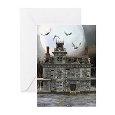 Halloween House Greeting Cards