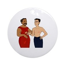 Cute Aaron Round Ornament