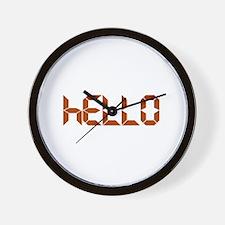 Digital Hello Wall Clock