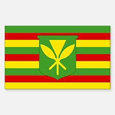 Kanaka Maoli Flag - Hawaiian Independence Decal