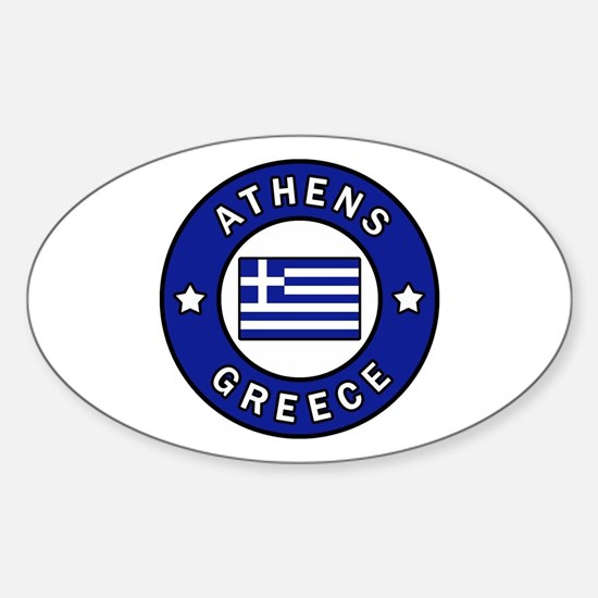 Cute Hellenic Sticker (Oval)