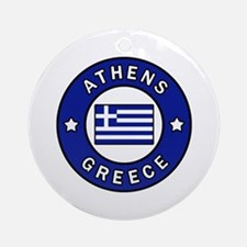 Cute Athens Round Ornament