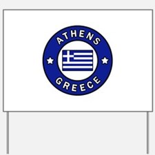 Athens Greece Yard Sign