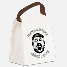 Cute Stupid baby Canvas Lunch Bag