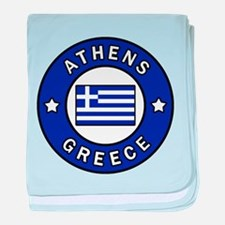 Athens Greece baby blanket