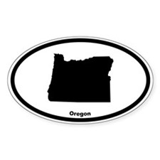 Oregon State Outline Oval Decal