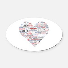 Cute Congenital heart defect Oval Car Magnet