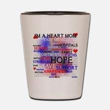 Cute Heart mom Shot Glass