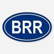 BRR Oval Decal
