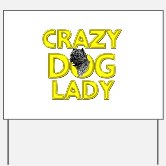 Crazy Dog Lady Yard Sign