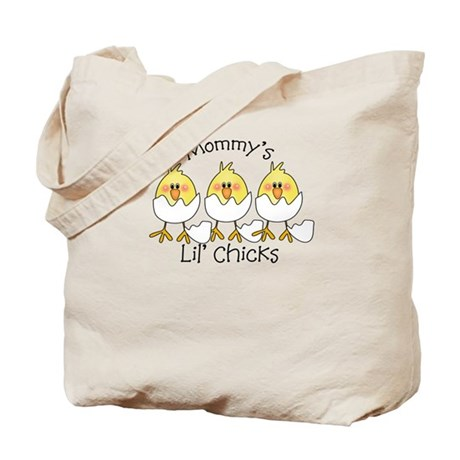 Mommy's Little Chicks TRIPLET Tote Bag