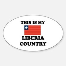 This Is My Liberia Country Sticker (Oval)