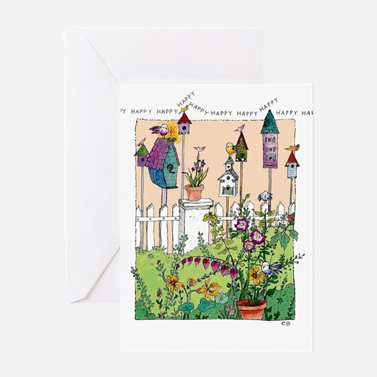 Cynthia Bainton Birthday Cards (Pk of 10) -Garden