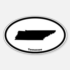 Tennessee State Outline Oval Decal