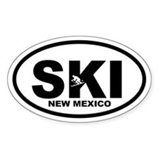 SKI New Mexico Oval Decal