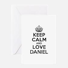Keep Calm and Love DANIEL Greeting Cards