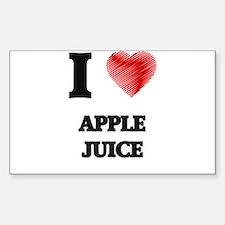 I Love Apple Juice Decal