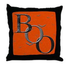"""""""Boo"""" Throw Pillow (orange)"""