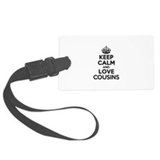 Keep Calm and Love COUSINS Luggage Tag