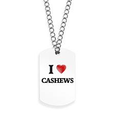 I Love Cashews Dog Tags