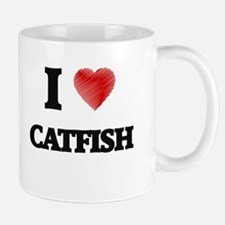 I Love Catfish Mugs