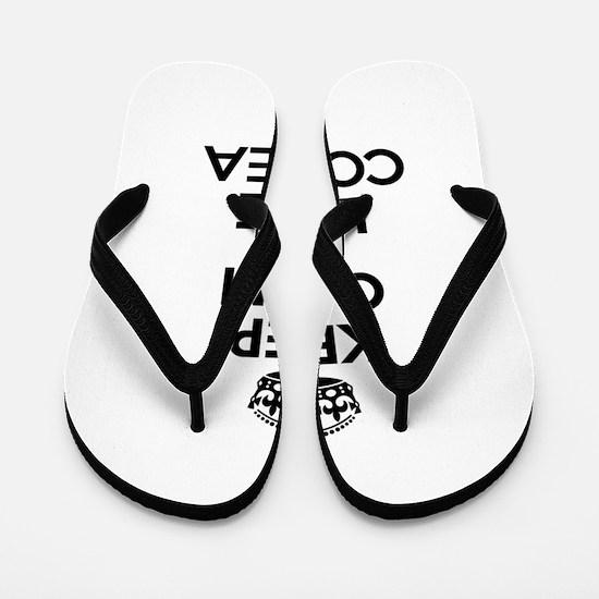 Keep Calm and Love CORREA Flip Flops
