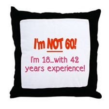 Cute Unique 60 years old Throw Pillow